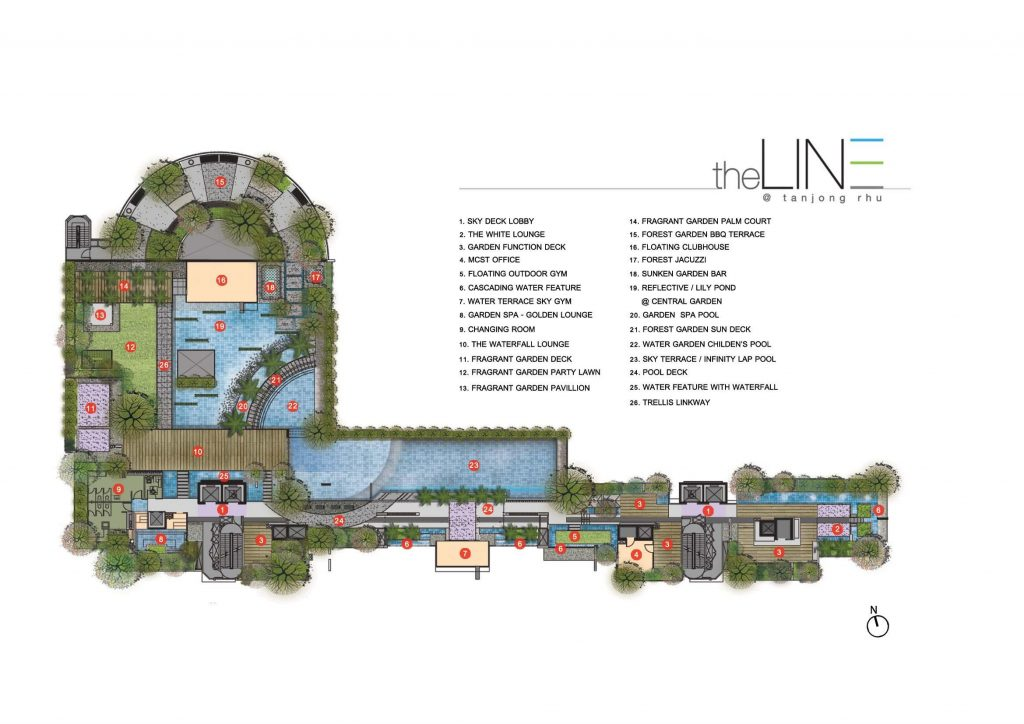 The Line 4th floor site plan