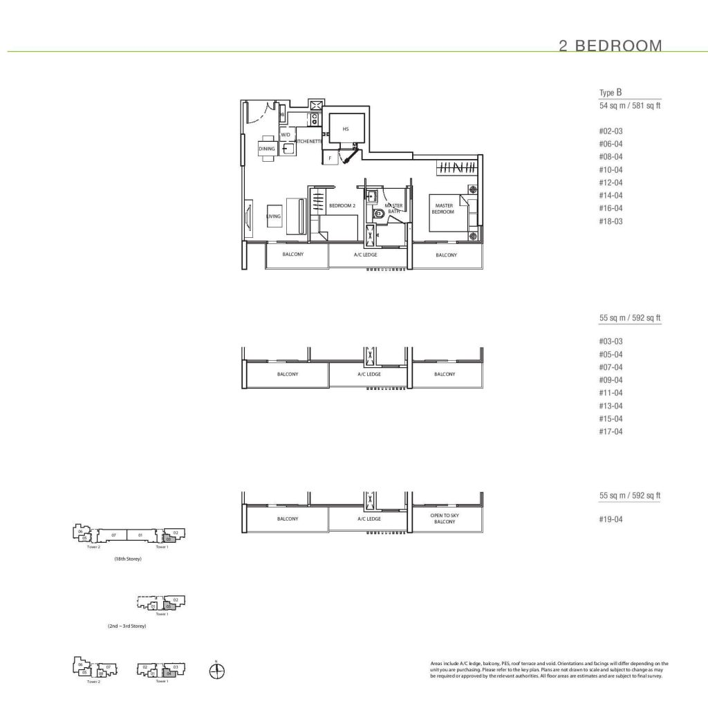 2 Bedroom Floorplan Type B