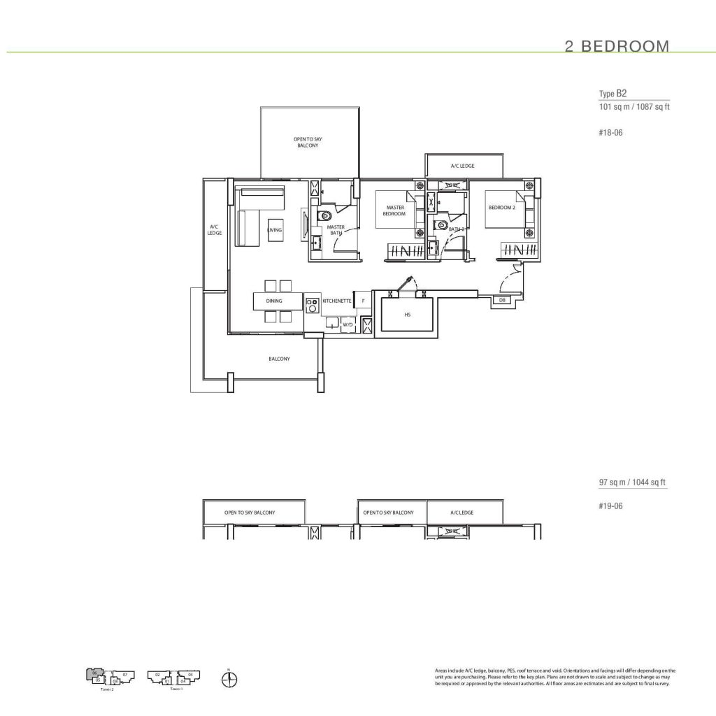 2 Bedroom Floorplan Type B2
