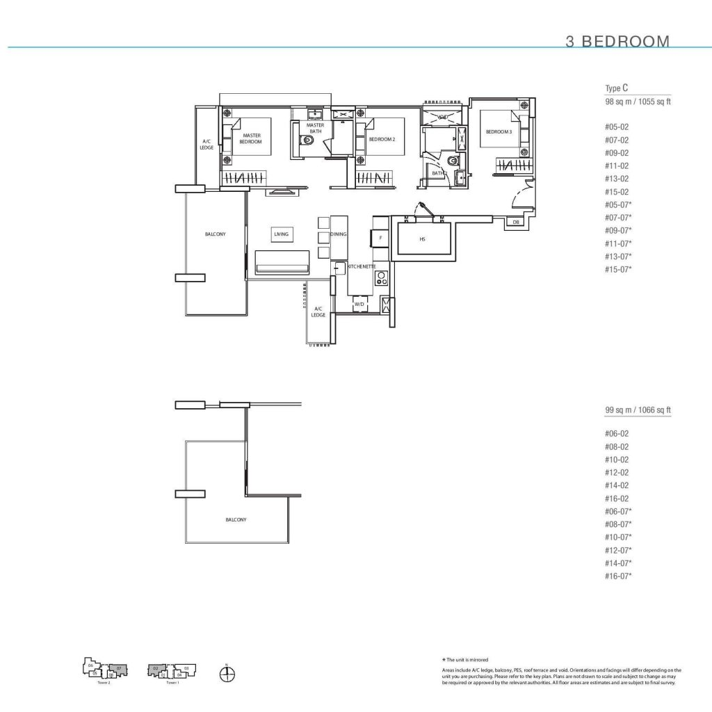 3 Bedroom Floorplan Type C