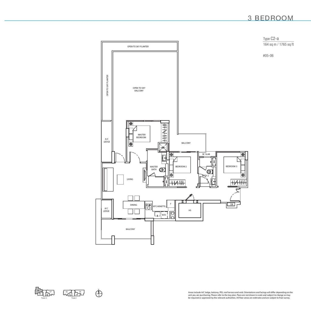 3 Bedroom Floorplan Type C2-a